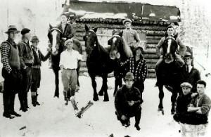 Chantiers d'hiver de M Goulet 1935