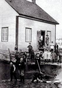 L'école du rang Moise vers 1944