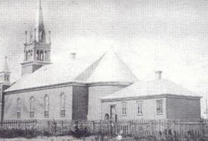Église St-Timothée d'Hérouxville en 1904