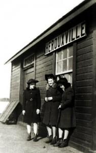 Gare d'Hérouxville en 1942
