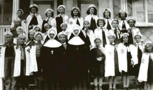 Les croisés et croisillons du couvent vers 1952