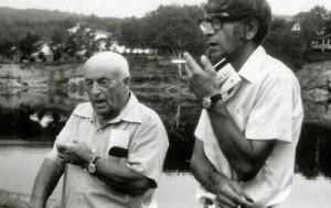Monseigneur Albert Tessier et M Jean-Marie Bédard à Tavibois en 1971